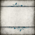 Cement wall banner with flourish raised section for title ornate flourishes Royalty Free Stock Photo
