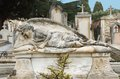 Cemetery angel figure syracuse sicily Royalty Free Stock Photo