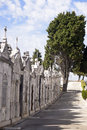 Cemetery architecture mausoleums graveyard religion white marble and granite with influences of various architectural styles such Stock Image