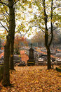 Cemetery in Autumn Royalty Free Stock Image