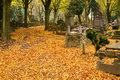 Cemetery in Autumn Royalty Free Stock Photos