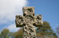 Cemetery celtic cross a on a in roslin scotland Royalty Free Stock Photo