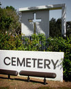 Cemetery with cross Royalty Free Stock Image