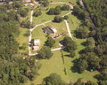 Cemetery in DeLand, FL aerial view. Stock Photography