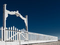 Cemetery fence and gates old at historic fort churchill nevada Stock Photography