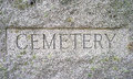 Cemetery granite sign Royalty Free Stock Photo