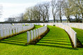 Cemetery great world war one flanders belgium of Royalty Free Stock Photo