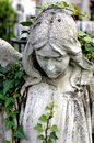 Cemetery statue of an angel Royalty Free Stock Photo