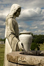 Cemetery Statue of Woman at the Well Stock Images