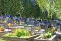 Cemetery in town ruzomberok slovakia september on september Royalty Free Stock Photography