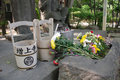 Cemetery Water Buckets at Zojo-Ji Royalty Free Stock Photo