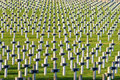 Cemetery world war one in France Vimy La Targette. Royalty Free Stock Photo