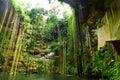 Cenote ik το itza kil πλησίον Στοκ Φωτογραφίες
