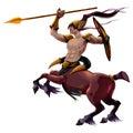 Centaur with spear and armor
