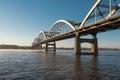 stock image of  Centennial Bridge Crosses the Mississippi River