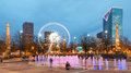 Centennial olympic park in atlanta at night Stock Photo