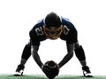 Center american football player man silhouette Royalty Free Stock Photo