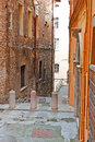 Center of city view to historic perugia italy Royalty Free Stock Images