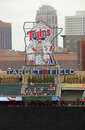 Center field sign at target field is a baseball park located in downtown minneapolis minnesota it is the home ballpark of the Royalty Free Stock Photos
