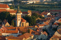 Center of town Mikulov Stock Images