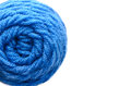 Center of yarn ball on white background isolated Royalty Free Stock Images