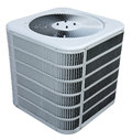 Central AC Air Conditioner, Cooling Unit Isolated Royalty Free Stock Photos