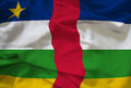 Central African Republic flag Royalty Free Stock Photo