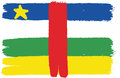 Central African Republic Flag Vector Hand Painted with Rounded Brush