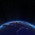 Central america and usa city lights at night elements of this image furnished by nasa Stock Image