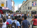 Central aveny och marknad san jose costa rica travel Royaltyfria Bilder