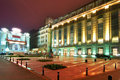 Central Bucharest by night Royalty Free Stock Photo