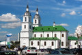 MINSK, BELARUS - AUGUST 01, 2013: The building of Holy Spirit Cathedral church the modern building was built in the XVIII century