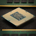 The central computer processor with memory modules Royalty Free Stock Photo