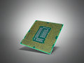 Central Computer Processors CPU High resolution 3d render on gre