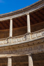 Central courtyard in alhambra palace at granada spain architecture background Royalty Free Stock Images