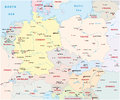 Central europe map political of the states in Royalty Free Stock Photo