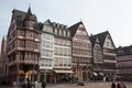 In central frankfurt the old city square showcases the old buildings and architecture of a different era Royalty Free Stock Photos