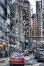 Central hk street of hongkong art china cityscape building architecture citylife Royalty Free Stock Photo