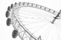 CENTRAL LONDON / ENGLAND - CIRCA AUGUST 2013 - The famous London Eye Royalty Free Stock Photo