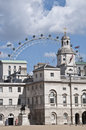 Central London & the Eye Royalty Free Stock Photo