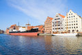 Central maritime museum in gdansk at motlawa river poland Stock Images