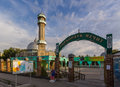 Central mosque in bishkek kyrgyzstan july city at the intersection of moscow gogol is the main of the muslims of Royalty Free Stock Images