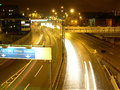 Central Motorway at Night Royalty Free Stock Image