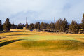 Central oregon golfbana Royaltyfria Bilder