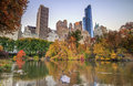 Central Park in Autumn Royalty Free Stock Photo