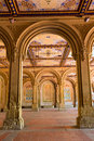 Central park bethesda terrace underpass arcades new york us Stock Photo