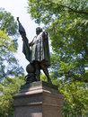 Central park christopher columbus statue manhattan new york us Royalty Free Stock Images