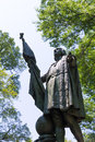 Central park christopher columbus statue manhattan new york us Royalty Free Stock Image