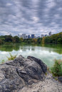 Central Park on cloudy day Stock Photos