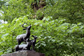 Central park entry detail statue new york city Royalty Free Stock Photography